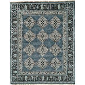 Dark Blue/Gray 2' x 3' Area Rug