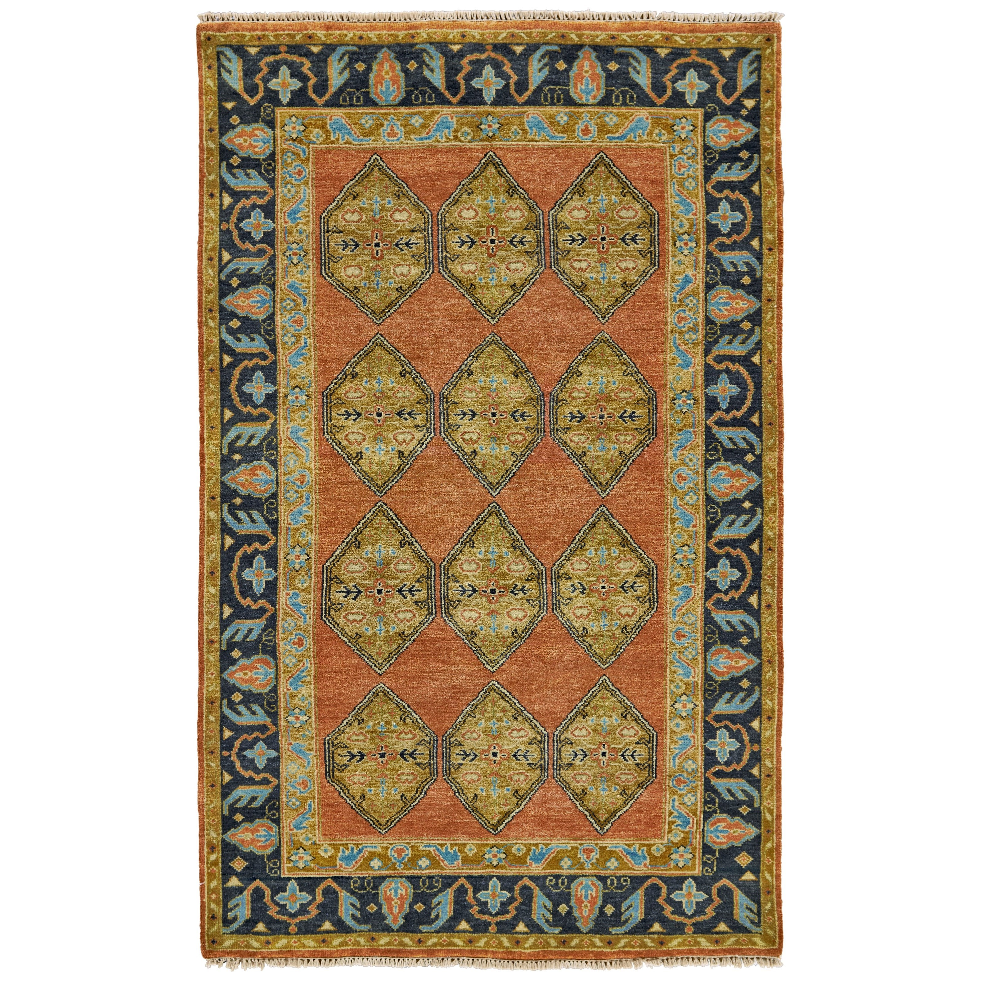 """Ustad Rust/Charcoal 8'-6"""" x 11'-6"""" Area Rug by Feizy Rugs at Sprintz Furniture"""