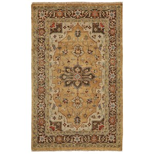 Gold/Brown 2' x 3' Area Rug