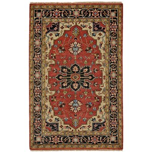 """Red/Black 7'-9"""" x 9'-9"""" Area Rug"""