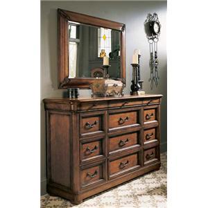 Fine Furniture Design RayLen Vineyards Triple Dresser and Landscape Mirror
