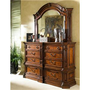 Large Double Dresser and Landscape Dresser Mirror