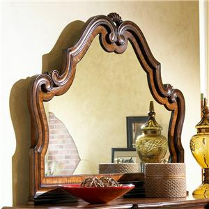 Carved Landscape Dresser Mirror