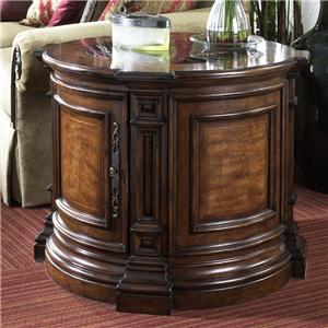Round Commode Table with Marble Insert Top