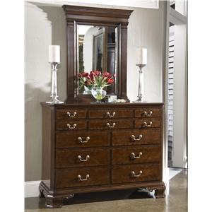 Portsmouth Entertianment Dressing Chest & Quincy Vertical Mirror Combination