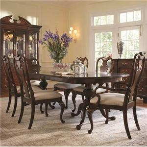 7 Piece Traditional Table and Chair Set