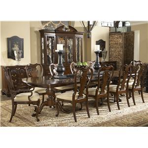 11 Piece Fredericksburg Dining Table & Brandywine Chairs Set
