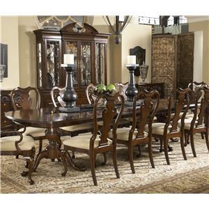 Fredericksburg Rectangular Double Pedestal Dining Table