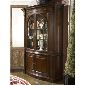 Charleston Display Cabinet with Mirrored Back Panel