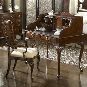 New Bedford Ladies' Desk with Tooled Leather Top