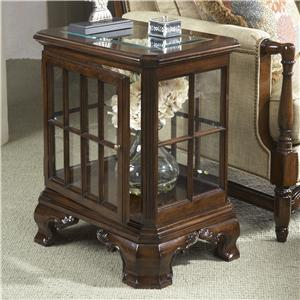 Manchester Curio Table with Glass Top and Door