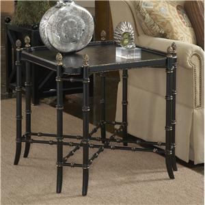 New London Chinoiserie Lamp Table with Black and Gold Chinoiserie Painted Top