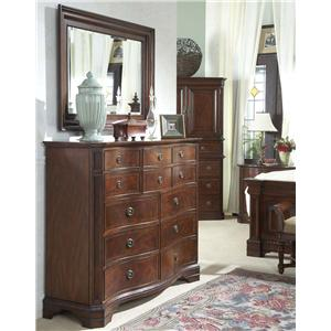 Classic Double Dresser with Landscape Mirror