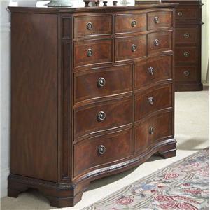 Twelve Drawer Double Dresser with Drop Panel Door