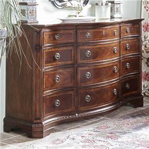 Classic Triple Dresser with Bowed Front