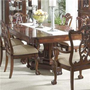 Dining Table with Decorative Double Pedestals