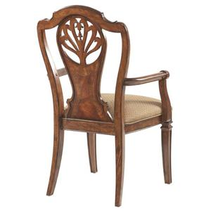 Decorative Splat Back Dining Room Arm Chair