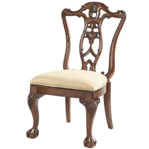 Ball & Claw Dining Room Side Chair Decorative Wood Back