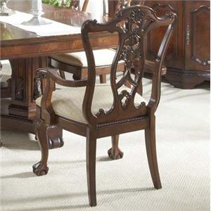 Ball & Claw Dining Room Arm Chair Decorative Wood Back