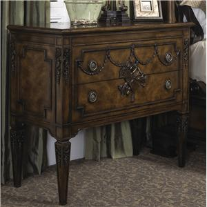 Traditional Antique Style Hand Carved Occasional Chest with Two Drawers