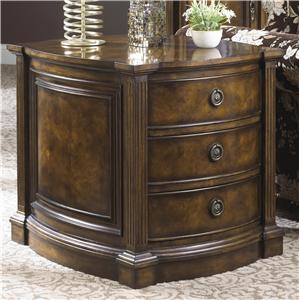 Traditional Antique Hand Carved Commode Table with Three Drawers