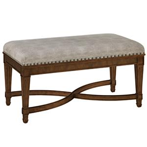 Bed Bench with Curved X Stretcher