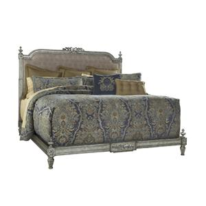 King Boulevard Bed with Silver Iron Gate Finish