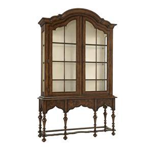 Stuyvesant Display Cabinet with German Straw Glass Doors