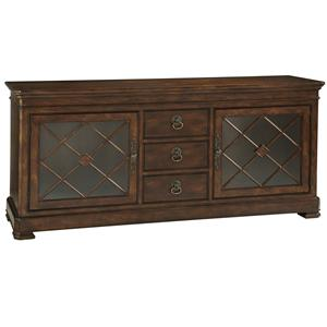 Media Cabinet with 2 German Straw Glass Doors