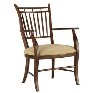 Spindle Dining Arm Chair with Arrow Back