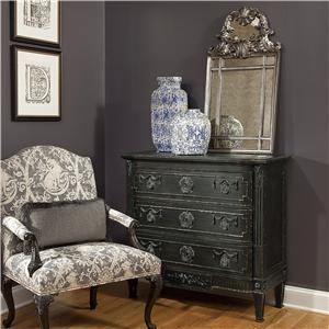 Hall Chest with 3 Drawers and Vignolo Mirror