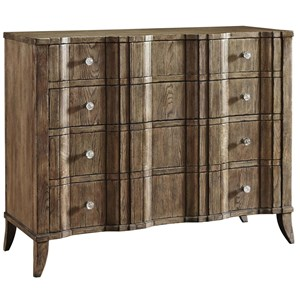 Theo Chest with Four Drawers and Glass Drawer Pulls