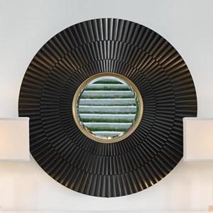 Isla Mirror with Two Tone Metallic Finish