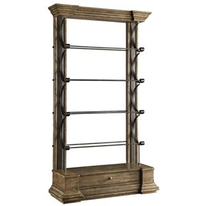 "Cambrion 24"" Occasional Wall Bookcase with Crown Moulding"