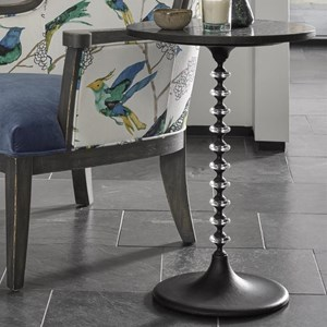 Irey Accent Table with Acrylic Rings on Pedestal