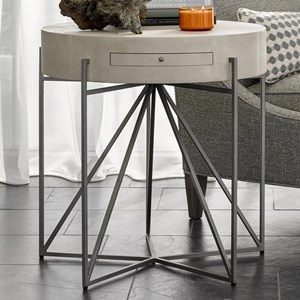 Phoebe End Table with Pull Out Shelf