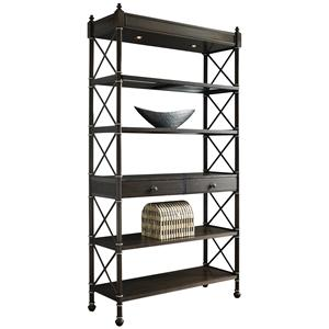 Wall Etagere w/ 2 Can Lights