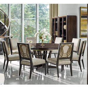 9 Piece Dining Set with Round Table