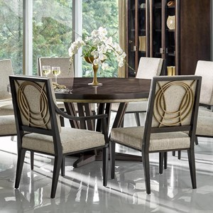 "Le Cercle 72"" Round Single Pedestal Dining Table"