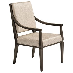 Spirales Upholstered Dining Arm Chair