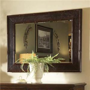 Textured Landscape Mirror with Leather Finish