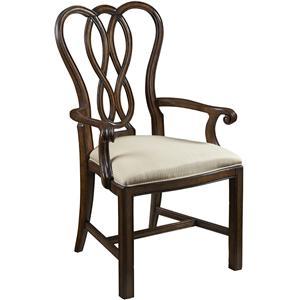 Ribbon-Back Dining Arm Chair