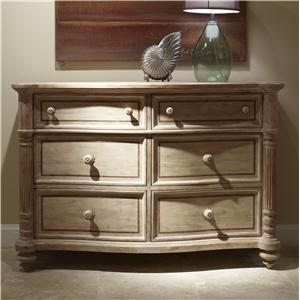 Bali Double Dresser with 6 Drawers and Jewelry Tray