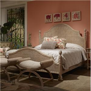 Guesthouse Woven King Bed with Weave Pattern Headboard and Footboard