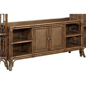 Maori Entertainment Base with 4 Shelves and Twill-Padded Doors
