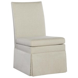 Fully Upholstered Dining Side Chair with Skirt