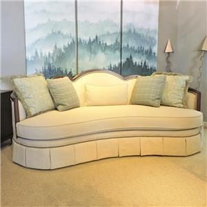 Traditional Sofa with Skirted Base