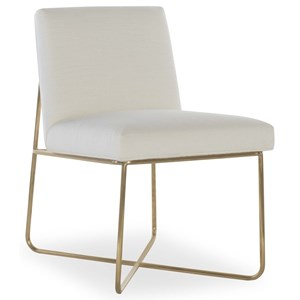 Allure Side Chair with Metal Base