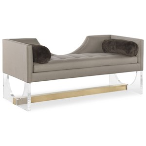 Vivid Upholstered Bench with Metal Base