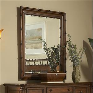 Beveled Bamboo Mirror